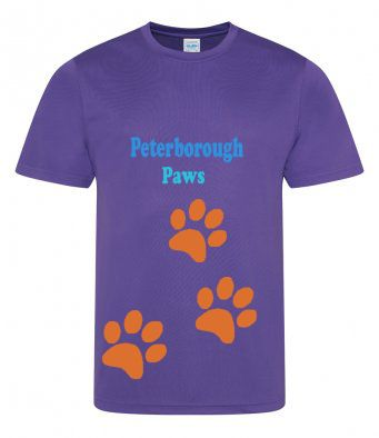 Peterborough Paws tech t-shirt