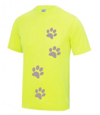 Reflective Paw Print Technical t-shirt