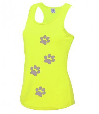 Reflective Paw print Technical Vest