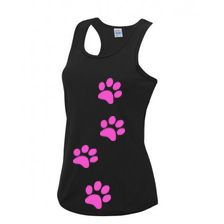 Womens Paw Print Technical Vest
