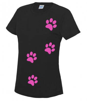 Womens Technical Paw Print T-shirt